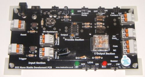 555 Monostable Training and Development PCB Self Build Kit
